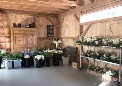 inside florist design shop and studio